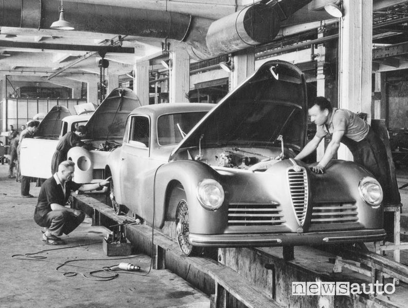 Produzione Alfa Romeo 6C 2500 Sport Freccia d'oro 1947