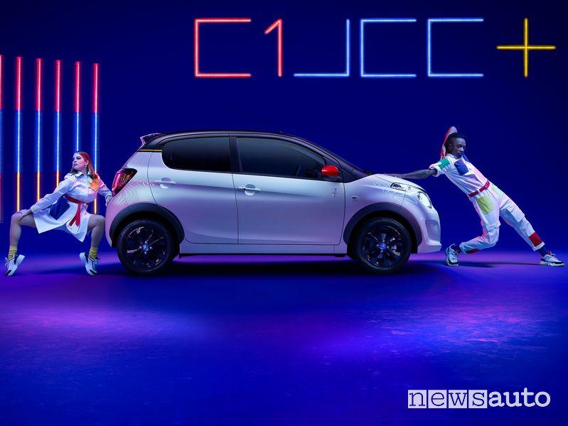 Vista laterale Citroën C1 JCC+ serie speciale