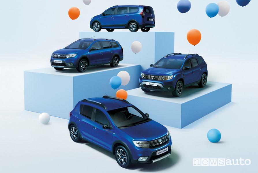 Dacia Duster, Sandero Stepway, Lodgy e Logan MCV Serie Speciale 15th Anniversary