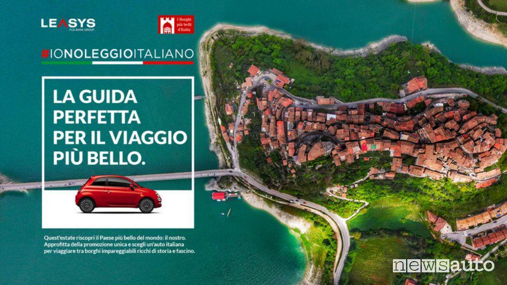 Locandina Io Noleggio Italiano con Leasys e I Borghi più Belli d'Italia