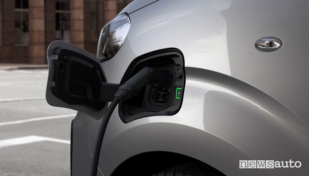 Ricarica con presa diTipo 2 Peugeot e-Expert elettrico