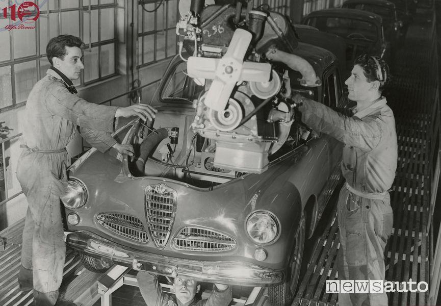 Alfa Romeo 1900 produzione al Portello
