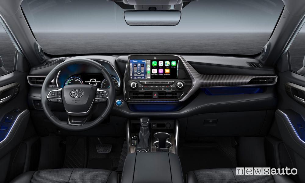 Plancia strumenti Apple CarPlay Toyota Highlander