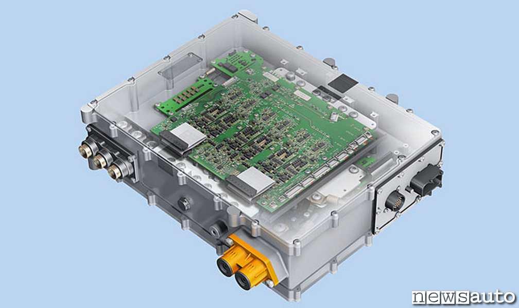 L'inverter deputato alla gestione della corrente su un motore elettrico sincrono Brushless