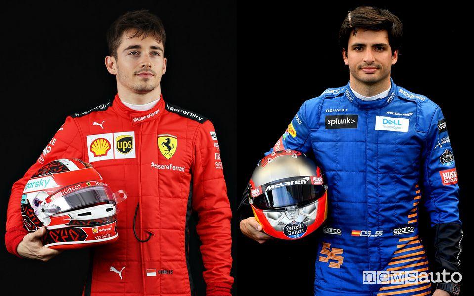 Charles Leclerc e Carlos Sainz jr. è la nuova coppia di piloti Ferrari