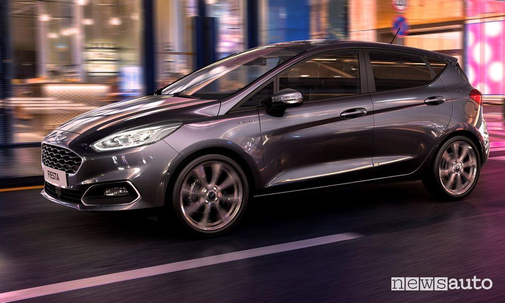 Ford Fiesta ibrida consumi ed emissioni di CO2 NEDC/WLTP