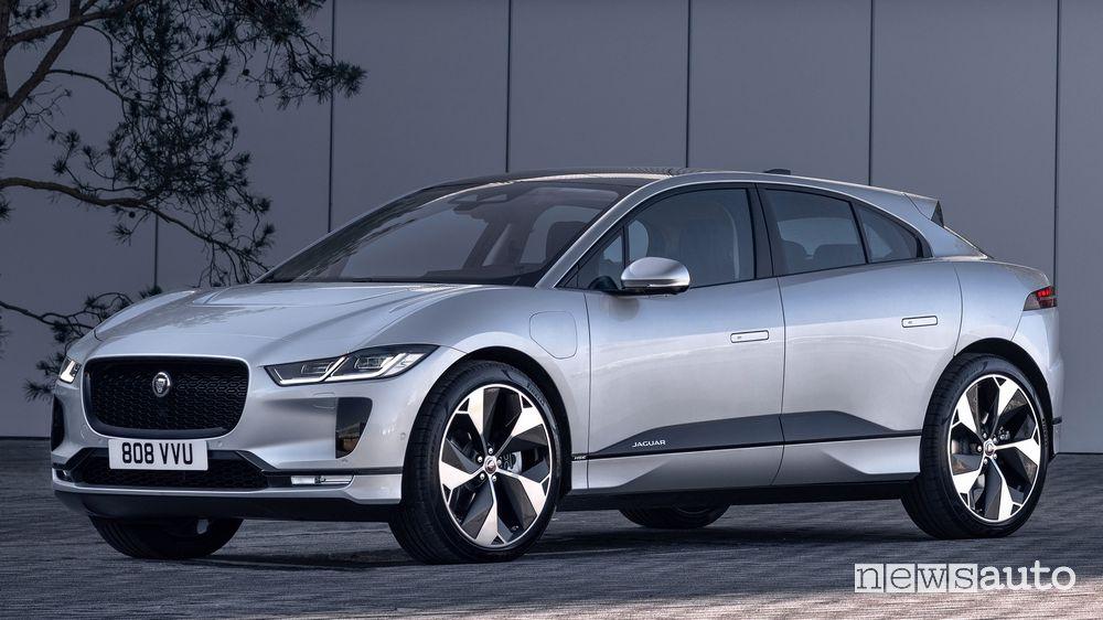 Vista di profilo Jaguar I-Pace 2021