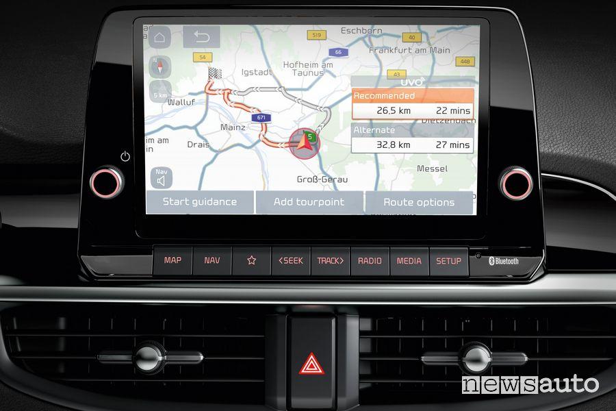 Navigatore schermo touch screen nuova Kia Picanto