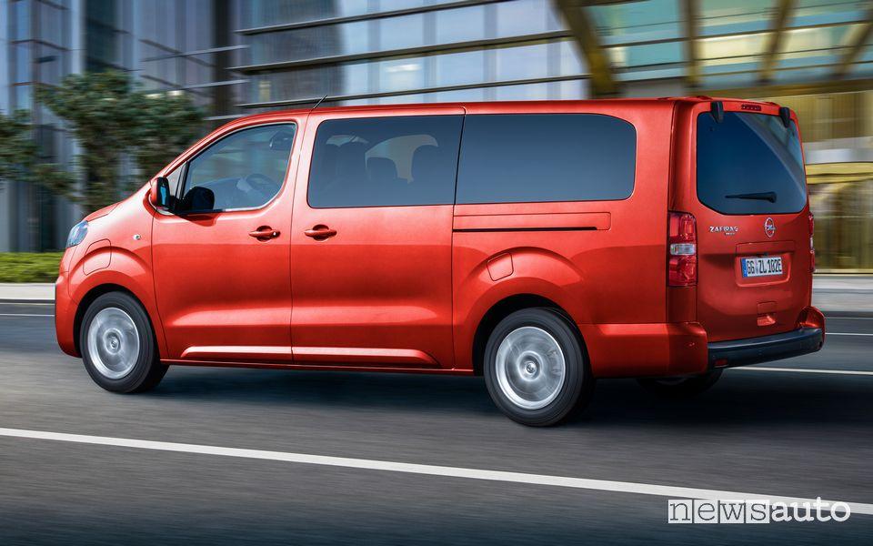 Opel Zafira e-Life elettrica prezzo quanto costa