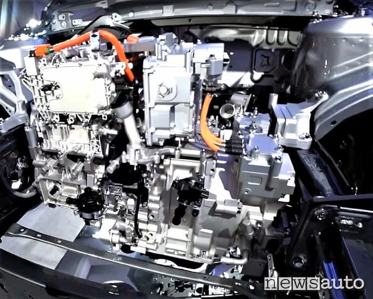 Gruppo motore elettrico + wankel per ricarica che arriverà in futuro sulla Mazda MX-30