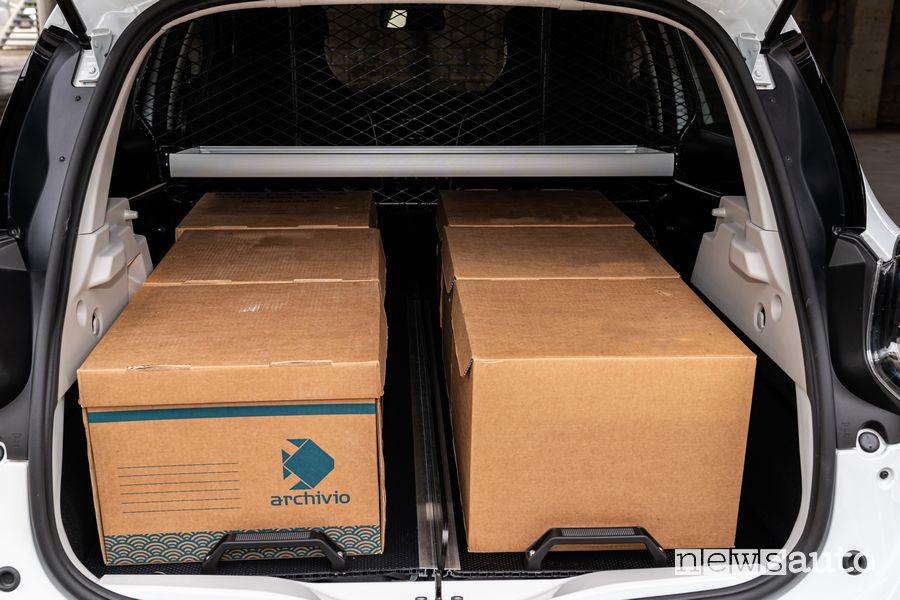 Vano di carico per 6 scatoloni Renault Zoe Van