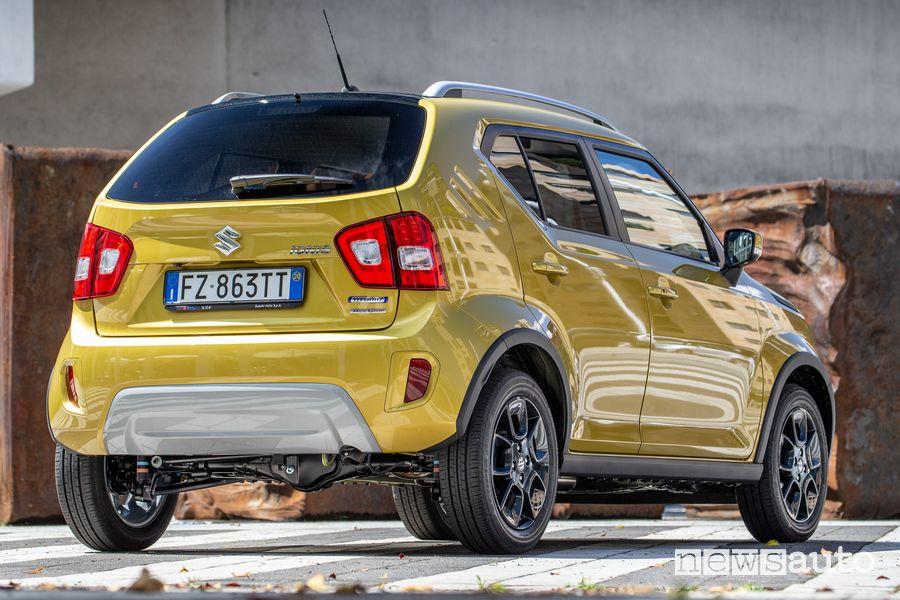 Vista posteriore Suzuki Ignis Hybrid 2020