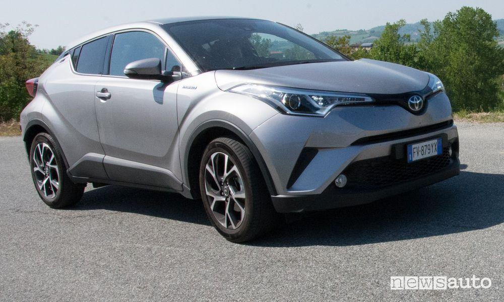 Toyota C-HR Hybrid trasformata a metano gas naturale