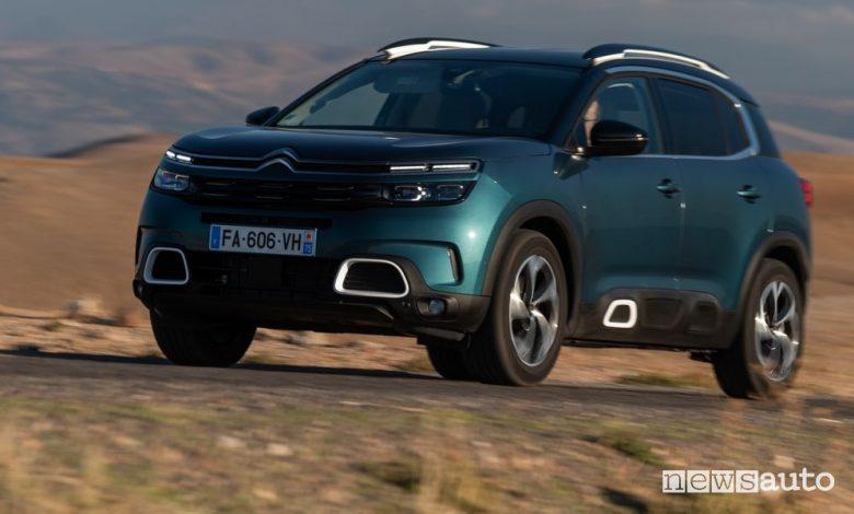 Citroën C5 Aircross, SUV benzina, diesel e ibrido, caratteristiche e prezzi