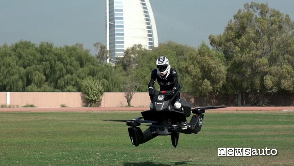 drone scooter testato da un pilota