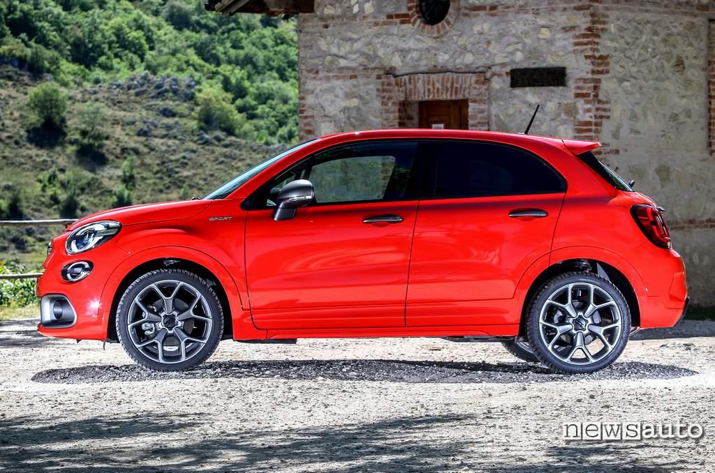 Fiancata laterale lato guidatore Fiat 500X Sport
