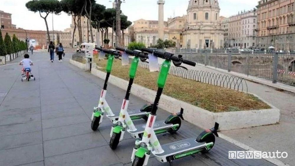 Monopattini centro di Roma