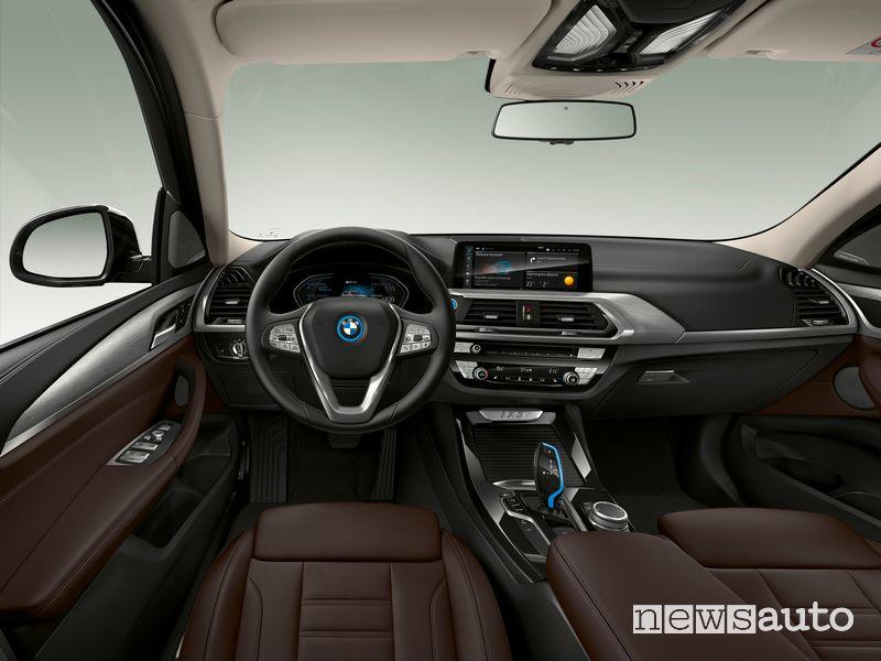 Plancia strumenti abitacolo BMW iX3 SUV elettrico