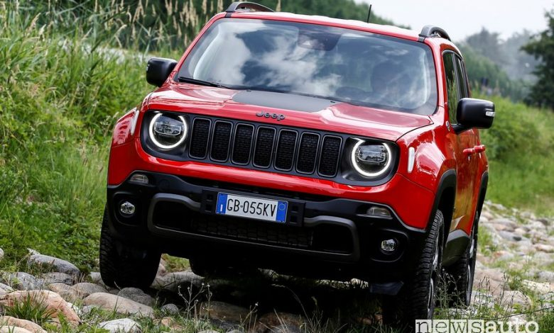 Jeep Renegade 4xe Trailhawk ibrida plug-in sullo sconnesso