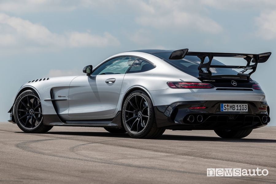 Vista posteriore Mercedes-AMG GT Black Series