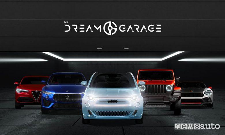 Garage dei sogni con Alfa Romeo, Abarth, Jeep, Fiat e Maserati