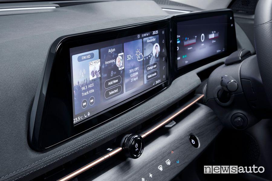 Display infotainment abitacolo Nissan Ariya