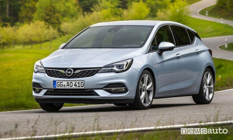 Riduzione emissioni CO2 Opel Astra