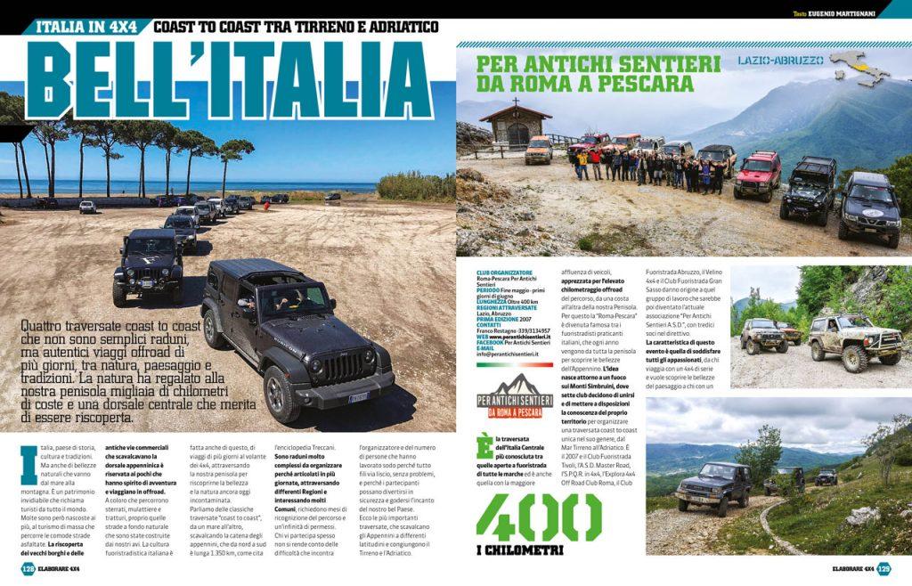 """Viaggi """"coast to coast"""" dal Tirreno all'Adriatico, attraversando gli Appennini"""
