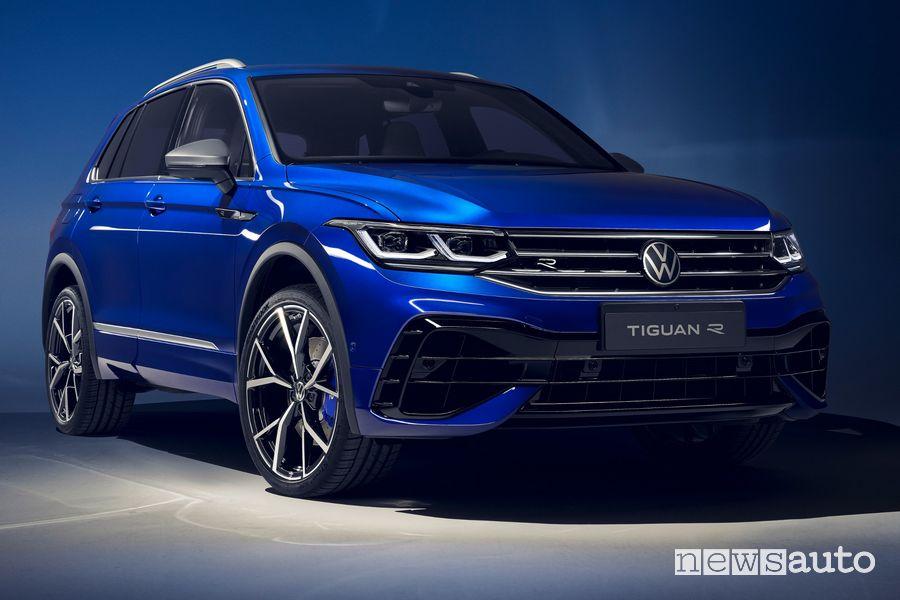 Vista di profilo Volkswagen Tiguan R