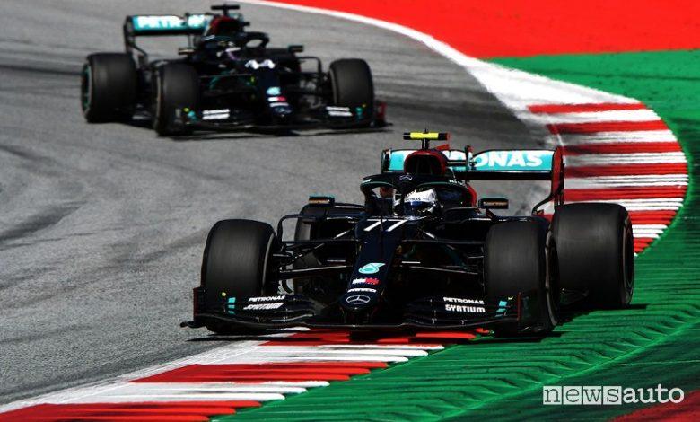 F1 Gp Austria 2020, vittoria Mercedes con Bottas
