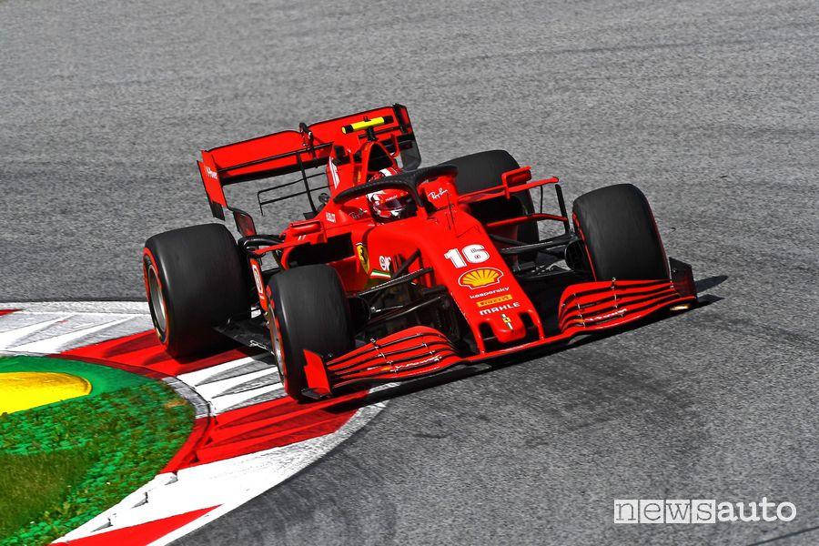 Leclerc Ferrari 2° posto Gp d'Austria F1 2020