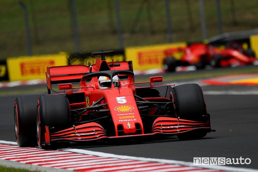 Ferrari Vettel qualifiche gp ungheria 2020 f1