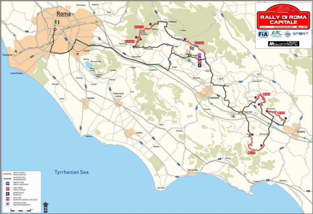 Mappa Rally di Roma 2020