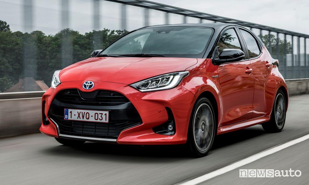 Toyota Yaris, prezzi gamma e allestimenti