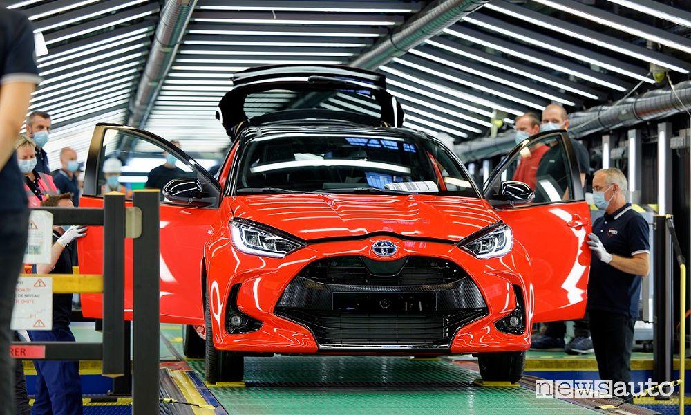 Nuova Toyota Yaris produzione