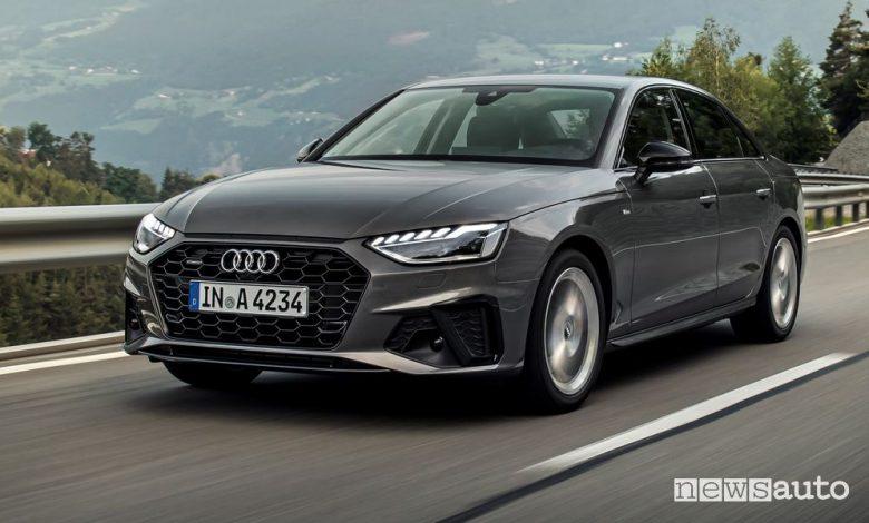 Audi A4 benzina e diesel ibrida MHEV