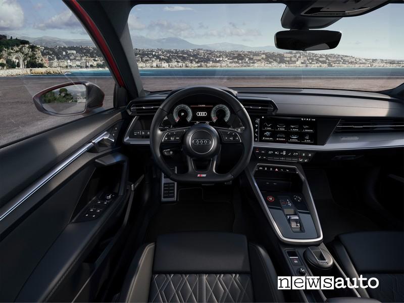 Audi S3 2020/2021 Vista cockpit, cruscotto e sistema infotainment MIB 3
