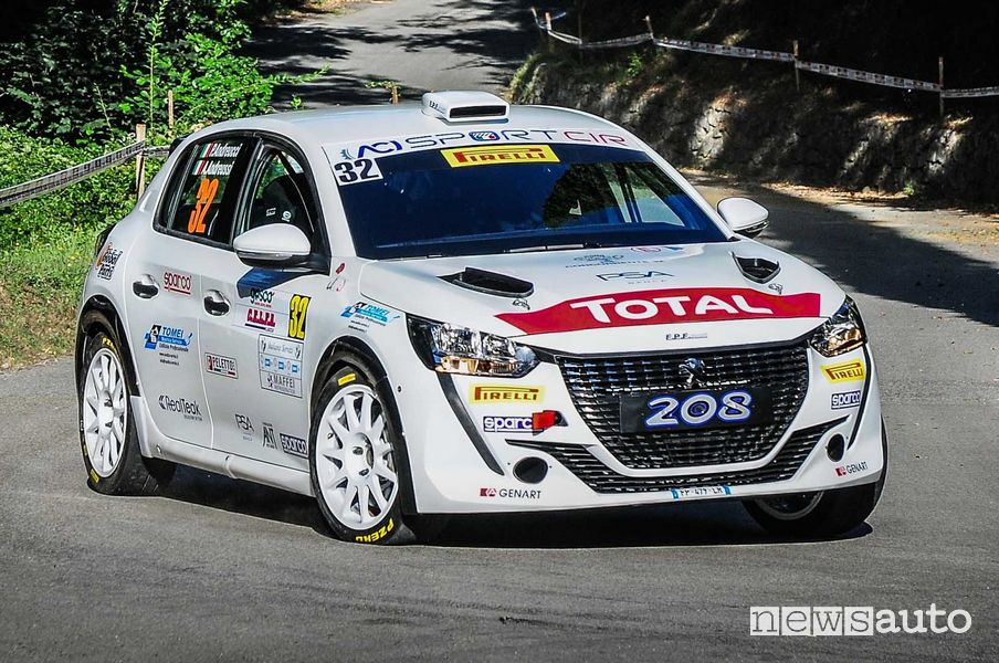 Paolo Andreucci e Anna Andreussi sulla nuova Peugeot 208 Rally4 Campionato Italiano Piloti - 2 RUOTE MOTRICI