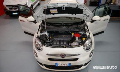Vano motore Fiat 500X benzina trasformata in metano