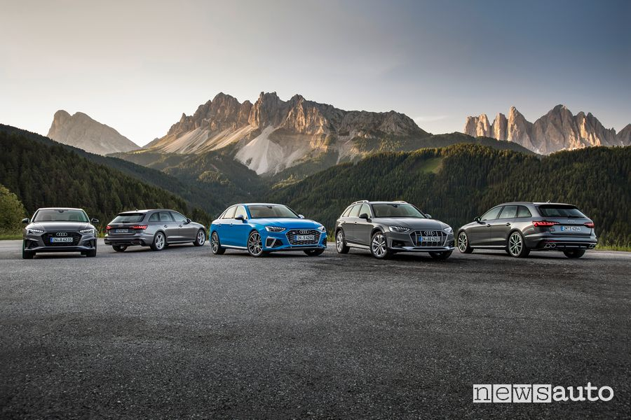 Audi A4 Sedan, Audi A4 Avant, Audi S4 Sedan TDI, Audi A4 allroad