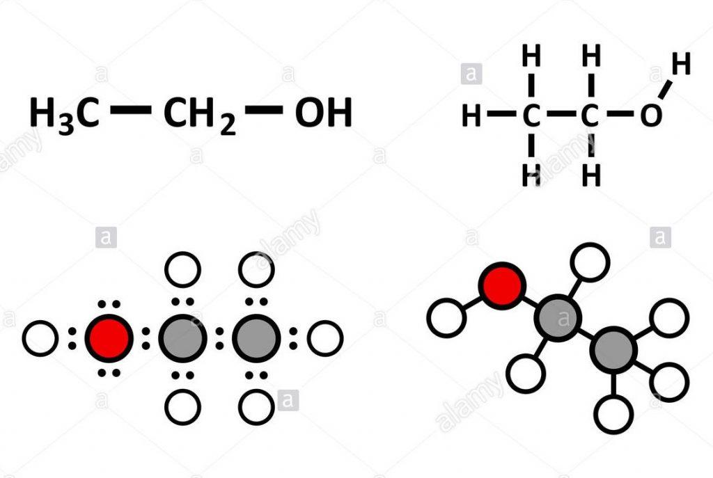 Formula alcool etanolo