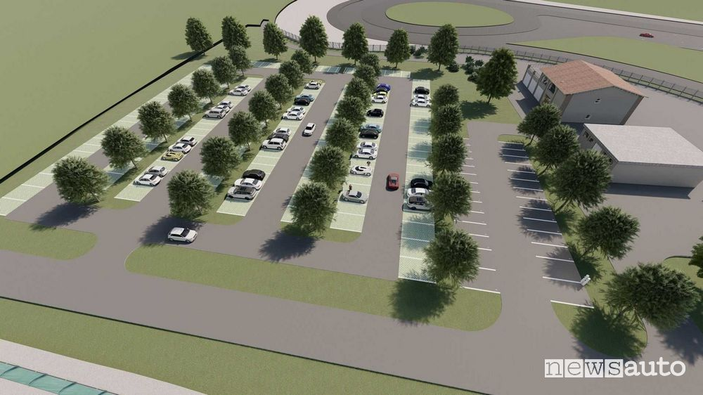 nuovo autodromo di Modena area verde