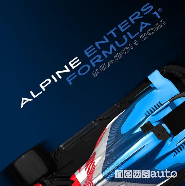 La nuova monoposto Alpine avrà una livrea blu con i colori del marchio