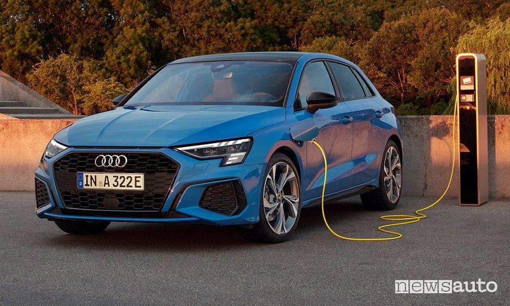 Audi A3 Sportback ibrida plug-in, caratteristiche e prezzi