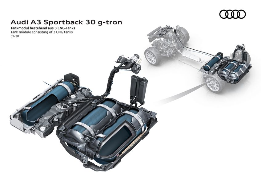 Bombole metano Audi A3 Sportback 30 g-tron