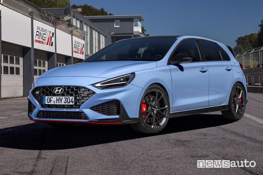 Vista di profilo Hyundai i30 N