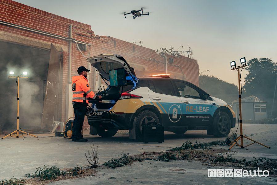 Nissan Re-Leaf nelle operazioni di emergenza
