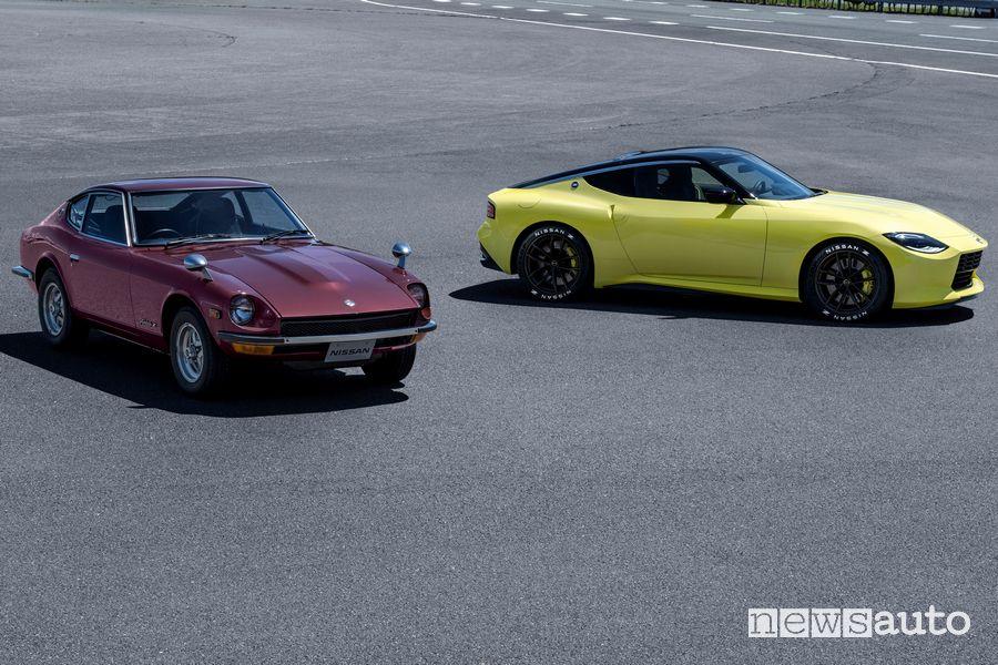 Nissan Z Proto insieme alla prima generazione S30