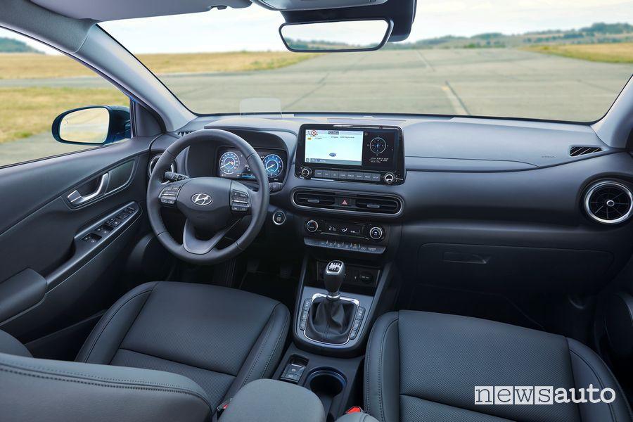 Plancia strumenti abitacolo nuova Hyundai Kona 2021
