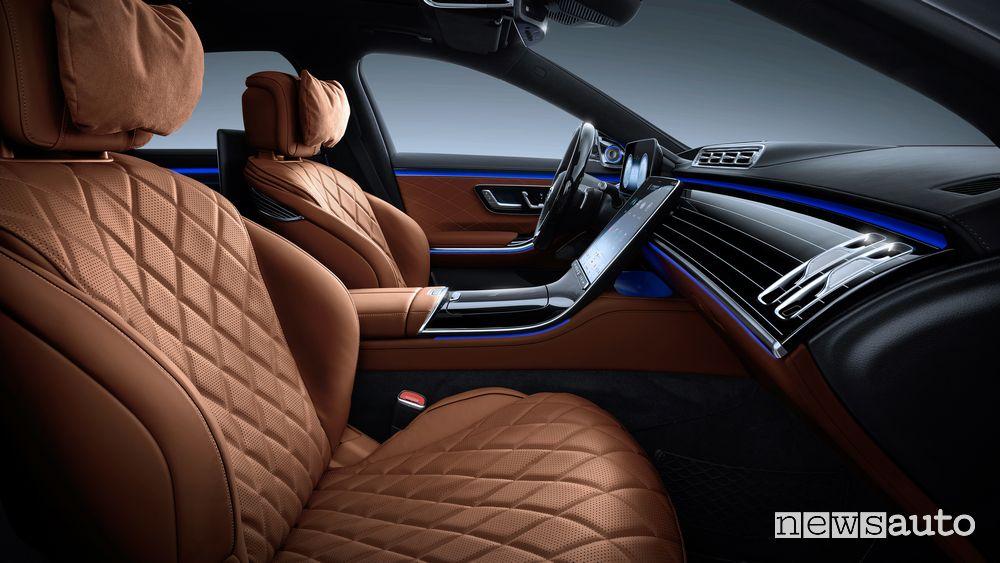 Sedili anteriori abitacolo Mercedes-Benz Classe S